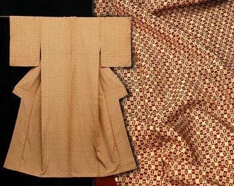 Japanese Kimono Robe / Vintage Silk Kimono / Dressing Robe / 110709