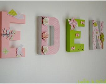 Decorative personalized kids name letter 3D 20 cm