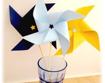 Set of 3 picks windmills XL - choose colors