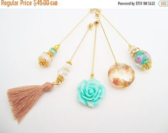 15% OFF SALE Desert Rose Hijab Pins Set- Stick Pins / Hat Pins / Decorative Pins / Eid Gifts / Bridal Gifts