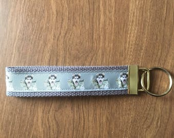 Husky Key Chain Zipper Pull Wristlet