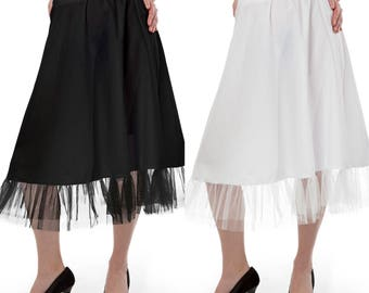 white or black Petticoat underskirt Lolita Petticoat 50's style  27 inch petticoat from tulle
