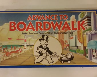 Parker Brothers No. 0014 Advance to Boardwalk Board Game, 1985