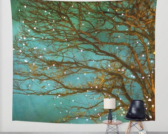 Magical - woodland wall tapestry, large size wall art, wall decor, photo tapestry, forest, nature, surreal, bohemian