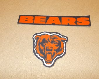 Appliques - NFL - Chicago Bears - Sew on or No Sew
