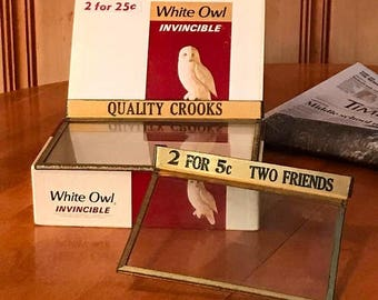 ON SALE Vintage Cigar Shop Display Covers and Cigar Box