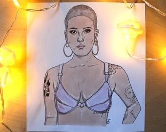 Halsey Drawing