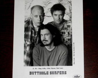 The Butthole Surfers Original US 1996 Promotional Only 8 x 10 Press Photo #1