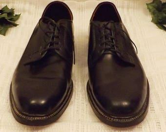 Vintage Hanover Shoes L B Sheppard Black Oxford Size 10 1/2