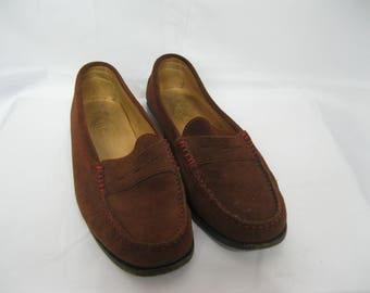 Tod's Brown Suede Loafers Size 7