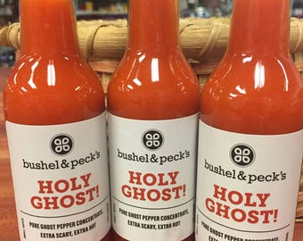 Three Bottles: Holy Ghost Hot Sauce ~ Pure Ghost Pepper