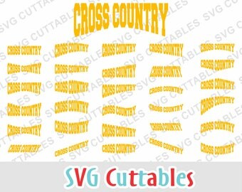 Cross Country Layouts, SVG, EPS, DXF, Set of 30 Cross Country Layouts, Digital Cut File for Cutting Machines