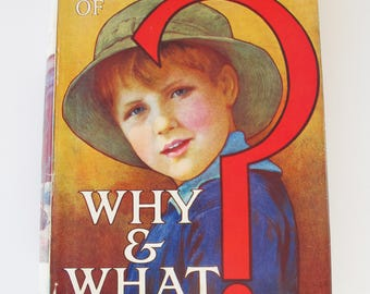 The Wonder book of Why and What? Vintage children's hardback book - 1930s