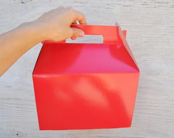 10 Large Red Gable Boxes 9x6x6 Favor Box