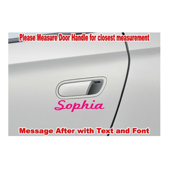Custom Door Handle Name Text Vinyl Decal Sticker Jeep Car - Custom windo decals for jeeps