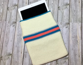 Crochet iPad Sleeve, iPad Cover, iPad Protective Sleeve, Crochet iPad Bag
