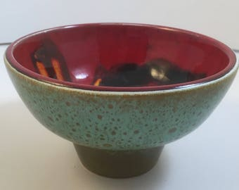 Vintage Retro Mid Century Modern Small Poole Delphis Footed Bowl