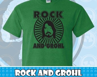 Rock And Grohl Dave Grohl Foo Fighters Graphic T-shirt Several Colors