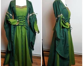 Medieval Dress, Size XL, Renaissance Gown, Renfaire LARP, Fantasy Dress Handfasting