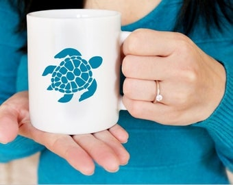 Sea Turtle Sticker, Sea Turtle Decal, Sea Turtle Bumper Sticker, Sea Turtle Laptop Sticker, Sea Turtle DIY Sticker, Sea Turtle Mug Sticker,