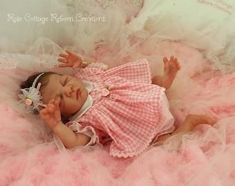 "ROSEBUD custom reborn Preemie Doll 14.5"" ~ Darling Layette ~ Free US Ground Shipping"