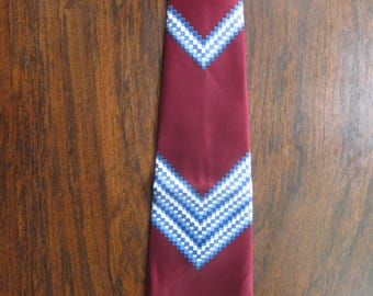 Wonderful Early 1950s Red Tie (Deadstock Unworn)