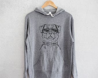 Rocky the Rottweiler - Grey French Terry - Unisex Slim Fit