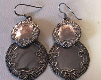 Stunning Sterling Silver Dangle Earrings