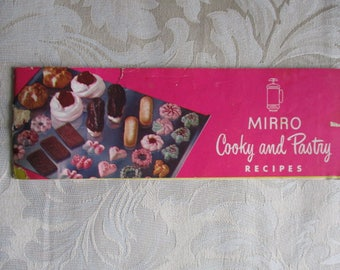 Mirro Press Cooky and Pastry Recipes Pamphlet