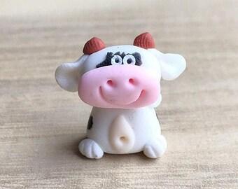 On Sale15% Miniature Cow,Miniature Animal,Little Cow,Tiny Cow,Small Cow,Animal Miniature,Dolls and Miniature,Dollhouse Cow,Ox,miniature