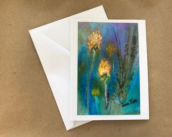 Dandelion Blank  Note Card