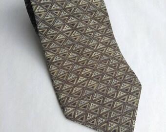Vintage Henry Grethel Silk Necktie Italian Silk Made in USA