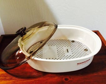 Magnawave Perfection Micowave Roaster, Vintage Micowave Dish, Microwave Cookware Pan, 1980s Kitchen