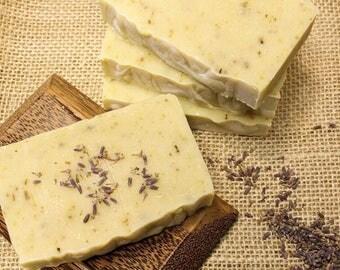 Lavender Mint Soap - Natural Soap - Goat Milk Soap - Essential Oil Soap - Cold Process Soap - Homemade Soap - Handmade Soap
