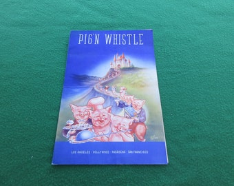 1942 Menu Pig'N Whistle San Francisco California