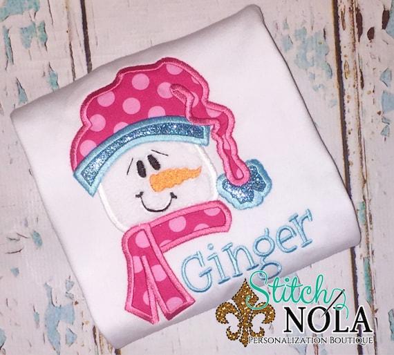 Snowman applique, snowman shirt, snowman, winter appliqué, winter shirt