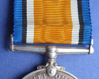WW1 Silver British War Medal - Named To Leading Stoker J.Whiting. Royal Navy