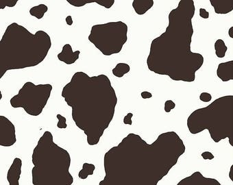 Pony Skin in Brown / Cream Fabric by Michael Miller Western Cow Print