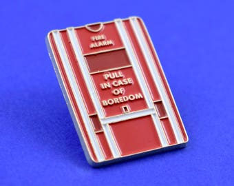 Pull in Case of Boredom Soft Enamel Pin // Funny Pin // Pins //  Enamel Pin // Gifts for her // Gift for Him // Gift ideas // Lapel Pin