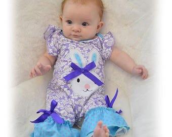 Easter bunny ruffle infant romper