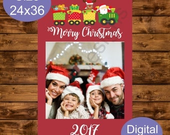 Christmas Photo Booth Frame, Instant Download, Printable 24 x 38 Holiday Party, Selfie Merry Christmas Photo Prop, DIY Holiday Frame