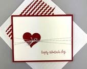 Fabriquées à la main la carte de la Saint-Valentin - carte de voeux carte fait à la main - carte coeur - de bonne Saint-Valentin