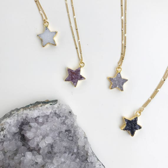 Druzy Star Necklace