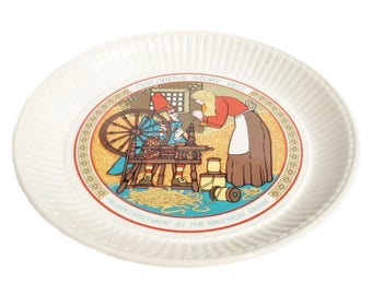 Children's Story plate - Rumpelstiltskin - Wedgwood - 1977 Brothers Grimm stories - collectable vintage display plate