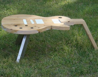 Wood and resin Gibson guitar coffee table