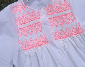 Neon girl tunic