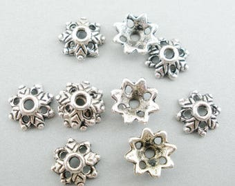 30 coupelles en alliage de zinc - ARGENT ANTIQUE (3x8 mm)