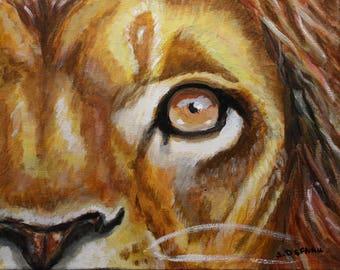 Lion Eye original painting