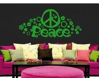 20% OFF Summer Sale Peace wall decal, sticker, mural, vinyl wall art