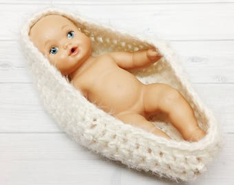 SALE Newborn Crochet Baby Bowl Egg